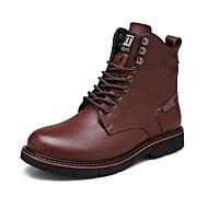 baratos Sapatos de Tamanho Pequeno-Homens Coturnos Couro Outono / Inverno Botas Botas Curtas / Ankle Preto / Marron