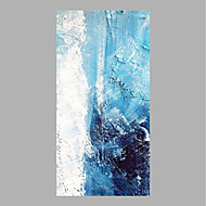 billige -Hang malte oljemaleri Håndmalte - Abstrakt Abstrakt Lerret