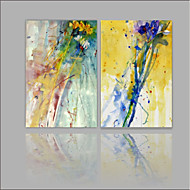 cheap Prints-Rolled Canvas Prints Abstract, Two Panels Canvas Horizontal Print Wall Decor Home Decoration
