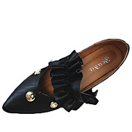 cheap Women's Flats-Women's Shoes PU Spring Summer Gladiator Comfort Light Soles Flats Flat Heel Round Toe For Casual Dress Black White