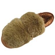 Femme Chaussures Cuir Nubuck Hiver Confort Mocassins et Chaussons+D6148 Talon Plat Bout rond Pour Noir Vert Rose Bourgogne