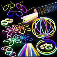100 glow stick party pack - 100 gemengde kleuren 8 premium glowsticks met connectoren om armbanden glazen bloemenballen en meer te maken -