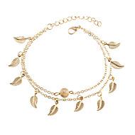 Žene Kratka čarapa / Narukvice Legura Cvijetan Leaf Shape Jewelry Za Kauzalni Bikini Plaža Ulica