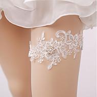liga de casamento de renda com imitação de acessórios de casamento de pérolas estilo elegante clássico