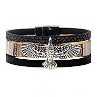 Herre Dame Læder Armbånd Personaliseret Vintage Læder Legering Ørn Smykker Afslappet Stadie Kostume smykker