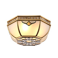 vintage middelhavet absorbere kuppel lys lampe amerikansk retro stue rom soverom lampe europa type kobber staving en blomst