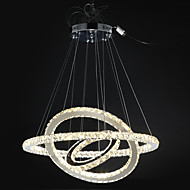 Dimmable Modern Crystal Chandeliers Indoor LED Pendant Lighting Ring Lighting 67W  with Remote Control