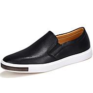 baratos Sapatos Masculinos-Homens Mocassim Couro Outono / Inverno Conforto Mocassins e Slip-Ons Branco / Preto / Azul / Festas & Noite
