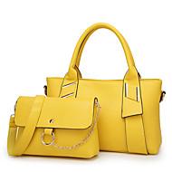 Damen Taschen PU Bag Set 2 Stück Geldbörse Set Reißverschluss für Normal Ganzjährig Blau Schwarz Gelb Wein