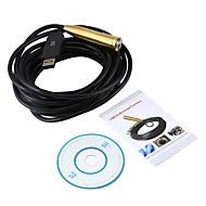 billige Overvåkningskameraer-usb endoskop 14,5mm linse mini kamera 5m inspeksjon cmos vanntett ip67 borescope vinduer 4 led slang video endoskop