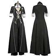 Kıyafetler Gotik Lolita Punk Lolita Lolita Cosplay Lolita Elbiseler Siyah Solid Şiir Kol Lolita Palto Yelek Pantalonlar Eldiven İçin Tüy
