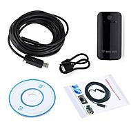 wifi endoscópio 10 milímetros lente usb camera inspeção borescope impermeável ip67 snake wireless cam para android ios pc 7m cabo