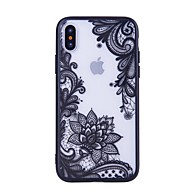 billiga Mobil cases & Skärmskydd-fodral Till Apple iPhone X iPhone 8 Mönster Skal spetsar Utskrift Hårt PC för iPhone X iPhone 8 Plus iPhone 8 iPhone 7 Plus iPhone 7