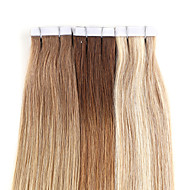 Neitsi 7A Grade 16'' 30g/lot 20Pcs Tape in Human Hair Extensions 100% Straight Remy Skin Weft Ombre