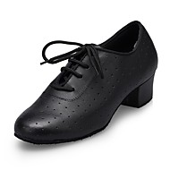 "billige Moderne sko-Herre Moderne Lær Ytelse Sløyfe Lav hæl Svart Under 1 "" Kan spesialtilpasses"