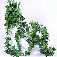 billige Kunstige blomster-1 Gren Polyester Planter Veggblomst Kunstige blomster