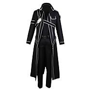 Ispirato da Sword Art Online Kirito Anime Costumi Cosplay Abiti Cosplay Tinta unita Manica lunga Pantaloni / Guanti / Mantello Per Per uomo / Per donna