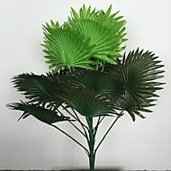 halpa -60cm 1 kpl 15 lehtiä / kpl kodintekstiilit keinotekoiset vihreät kasvit tuulettimen muotoiset ruoho