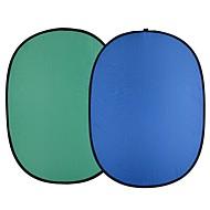 andoer 1,5 * 2,0m sammenleggbar nylonblå&Grønn (2in1) Bakgrunn Bakgrunnsbilde for foto& video studio fotografering