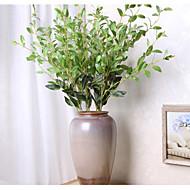 1 Gren Polyester Planter Bordblomst Kunstige blomster