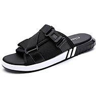 Masculino sapatos Tule Verão Conforto Sandálias Para Casual Preto