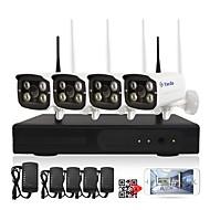halpa -yanse® 1080p 4ch langaton nvr-sarja 4kpl vedenpitävä ja yökuva wifi ip-kameran turvajärjestelmä hd 2.0mp