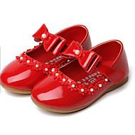 tanie Obuwie dziewczęce-Dla dziewczynek Obuwie PU Wiosna / Jesień Buty dla małych druhen Tenisówki na Biały / Czarny / Czerwony