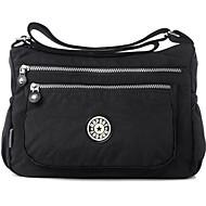 baratos Bolsas de Ombro-Mulheres Bolsas Poliéster Bolsa Transversal Ziper Azul Escuro / Fúcsia / Roxo Claro