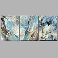 billiga Oljemålningar-HANDMÅLAD Abstrakt Horisontell Panoramautsikt, Artistisk Abstrakt Födelsedag Häftig Yrke/Affär Modern Nyår Jul Duk Hang målad oljemålning