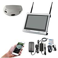 halpa -12,5 hd nestekidenäyttö hdmi nvr&360 astetta vr panoraama 3,0 mp wifi kamera CCTV turvajärjestelmä valvontakokonaisuus