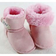 tanie Obuwie dziewczęce-Dla dziewczynek Obuwie Nubuk Zima Wygoda / Śniegowce Buciki na Fioletowy / Czerwony / Różowy