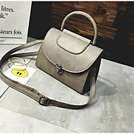 Women Bags PU Shoulder Bag Buttons for Casual All Seasons Black Blushing Pink Gray Brown Dark Brown