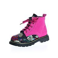 Para Meninas sapatos Camurça Inverno Coturnos Botas Botas Curtas / Ankle Para Casual Preto Fúcsia
