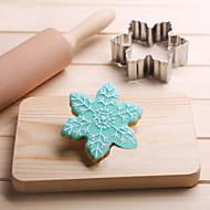 billige Bakeredskap-snowflakes cookies kutter rustfritt stål kake mold kjøkken verktøy