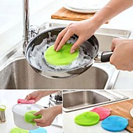 Useful Multipurpose Antibacterial Silicone Sponge Cleaning Dish Washing Kitchen Random Color