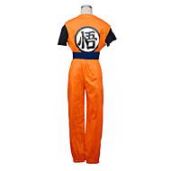 preiswerte Grosse Aktion für Spielzeug und Hobbys-Inspiriert von Dragon Ball Goku Anime Cosplay Kostüme Cosplay Kostüme Patchwork Kurzarm Weste Hosen Armband Gürtel T-shirt Für Mann