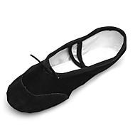 """billige Ballettsko-Barne Ballett Kunstlær Lerret Trening Plattform Svart Under 1 """" Kan spesialtilpasses"""