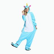 Kigurumi Pijamalar uçan At Festival / Tatil Hayvan Sleepwear Halloween Pembe Mavi Hayvan Desenli Kadife Mink Kigurumi İçinErkek Kadın