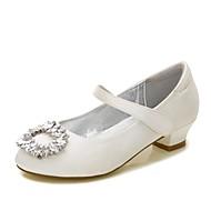 baratos Sapatos de Menina-Para Meninas Sapatos Cetim Primavera Verão Conforto / Bailarina / Tira no Tornozelo Saltos Pedrarias / Gliter com Brilho / Presilha para