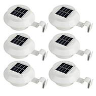 tanie Naświetlacze-6szt 0.5W Lampy LED na Energię Słoneczną Energia słoneczna Akumulator Dekoracyjna Udekorować scenę ślubu Motyw świąteczny Sylwester Noel