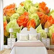 Mønster 3D Blomst Tapet til Hjemmet Rustikk Tapetsering , Lerret Materiale selvklebende nødvendig bakgrunns , Tapet