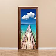 Недорогие Картины и постеры-Известные картины Пейзаж 3D Наклейки Простые наклейки 3D наклейки 3D, Бумага Украшение дома Наклейка на стену Стена