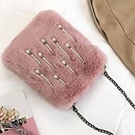Χαμηλού Κόστους Fur Bags-Γυναικεία Τσάντες Γούνα Τσάντα ώμου Φερμουάρ για Εκδήλωση/Πάρτι ΕΞΩΤΕΡΙΚΟΥ ΧΩΡΟΥ Όλες οι εποχές Ρουμπίνι Ανθισμένο Ροζ Γκρίζο Σκούρο
