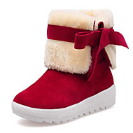 cheap Women's Boots-Women's Shoes Fur Velvet Fall Winter Fluff Lining Comfort Snow Boots Boots Creepers Round Toe Booties/Ankle Boots Bowknot For Casual Dress