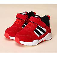 Baby Schuhe Kunstleder Herbst Winter Komfort Sneakers Für Normal Schwarz Grau Rot Blau