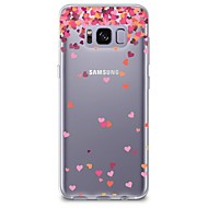 ケース 用途 Samsung Galaxy S8 Plus S8 クリア パターン バックカバー ハート ソフト TPU のために S8 S8 Plus S7 edge S7 S6 edge plus S6 edge S6 S6 Active S5 Mini S5