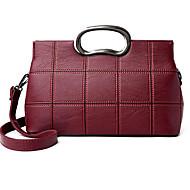 女性用 バッグ PU トート ジッパー のために カジュアル ブラック / グレー / ワイン