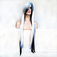 Women Synthetic Wig Capless Long Straight White With Bangs Party Wig Halloween Wig Costume Wig