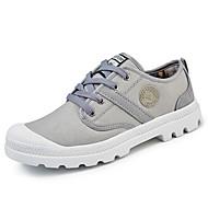 billige Sko i Store Størrelser-Herre sko Tvill Vår Høst Komfort Treningssko Gange Kombinasjon Til Avslappet Svart Grå Militærgrønn Rød Blå