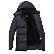 コート レギュラー パッド入り メンズ,お出かけ カジュアル/普段着 ソリッド コットン コットン 長袖
